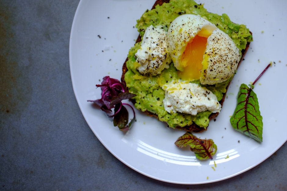 soft-boiled egg on avocado toast